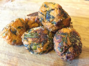 kale sweet potatot balls